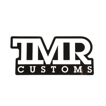 TMR Customs X-Large Decal - Black & White