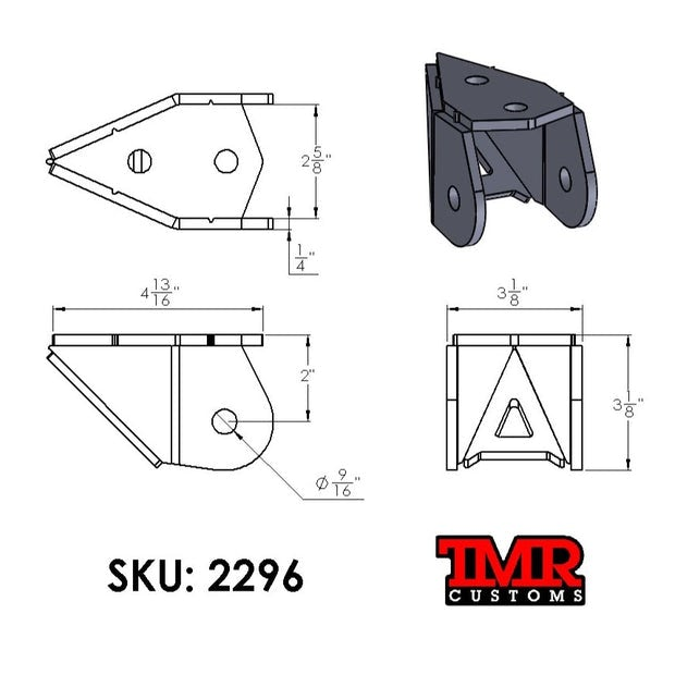 Frame Mount Lower Link Brackets