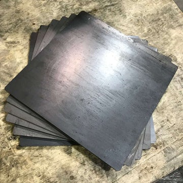 "1/4"" Thick Mild Steel Sheet - 12"" x 12"""
