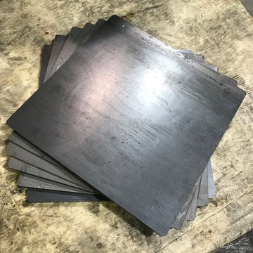 "3/8"" Thick Mild Steel Sheet - 12"" x 12"""